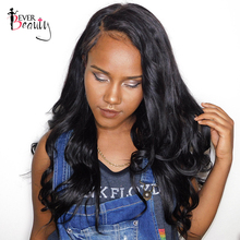 Ever Beauty Full Lace Human Hair Wigs For Black Women Brazilian Body Wave Non-remy Hair Natural Black 12-24inch