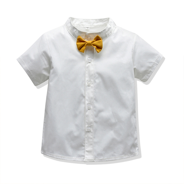 Baby Boy's Summer Clothing Set with Suspenders 4