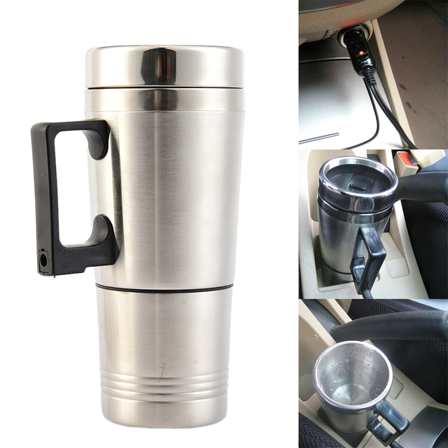 High Quality 12 V Car Heating Cup Stainless Steel Liner Car Mug With The Electric Kettle Cup Heating