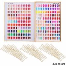 1pc Professional 308/216/120 Colors Golden Nail Gel Polish Display Card Book Chart with Tips Nail Art Salon Set недорого