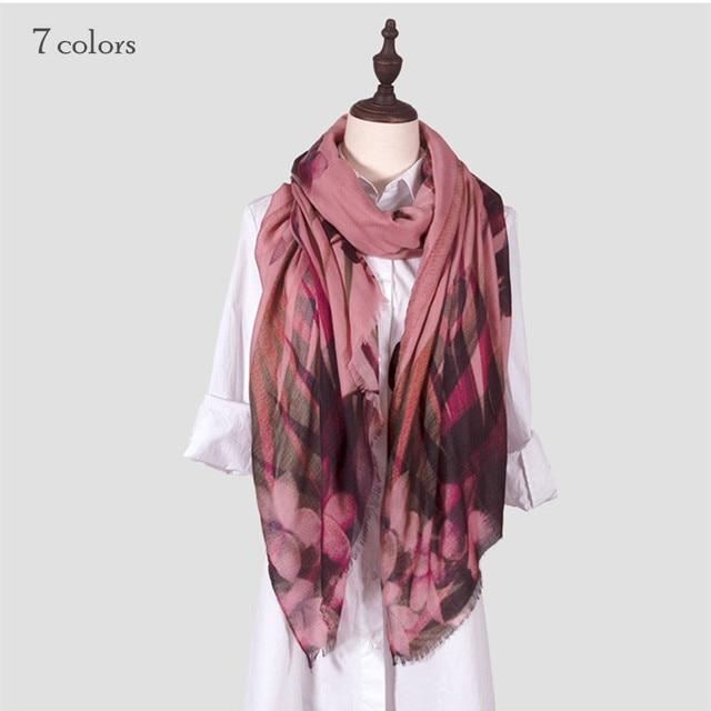 587818c25d45 hot sale floral scarf fringe scarves shawls cotton viscose soft muslim  hijab winter muffler women pashmina wrap fashion design