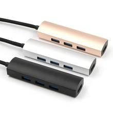 4-Порты и разъёмы USB 3,0 USB концентратор 5 Гбит/с, высокая Скорость для портативного компьютера телефона Tablet Тип с разъемами типа C и USB3.0 мульти-USB Порты и разъёмы для ноутбук планшетный ПК