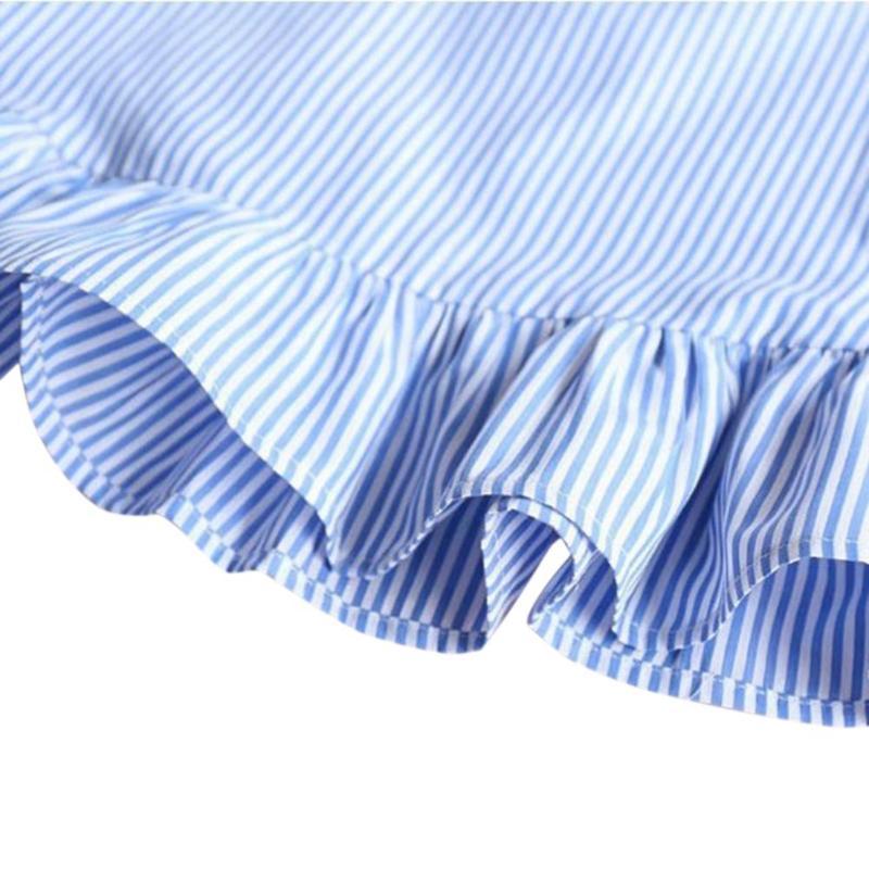 HTB12f0AXMKG3KVjSZFLq6yMvXXaT Summer Girls Tassel Flying Sleeve Dresses Stripe Cute Kids Party for girls Princess Dress Tops Clothes