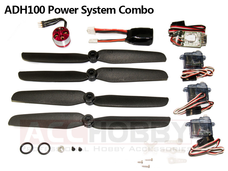 Micro Power System Combos,ADH100 (Including propeller saver,propeller,motor(KV 3700),ESC,servo,battery) RC Plane RC Model ...