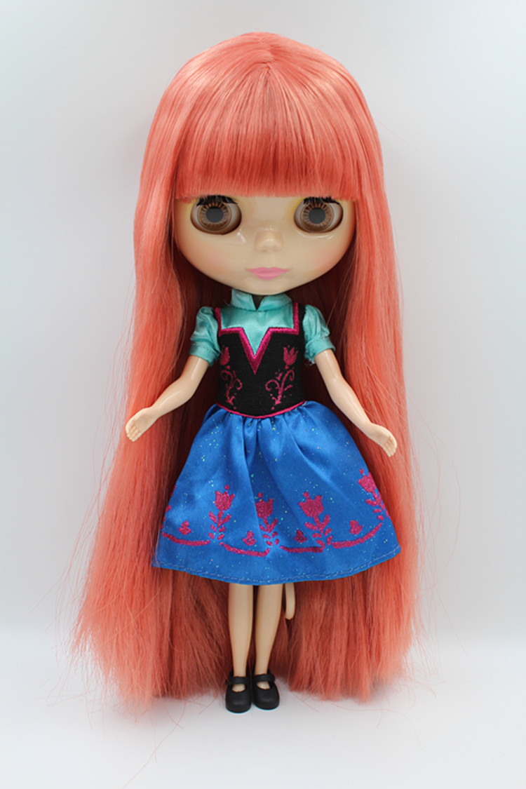 Blygirl Doll Watermelon Red Hair Blyth Body Doll Fashion Can Change Makeup-in Dolls From Toys ...