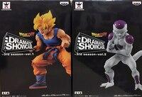Japan Anime Dragon Ball Z Original BANPRESTO DRAMATIC SHOWCASE 3rd season Collection Figure Super Saiyan Son Goku & Freeza