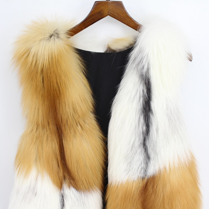 Femme Gilet De Naturel Luxe And Brown Qualité Brown Fourrure Rose 2018 Couleur Mode Court Femmes white Renard Automne Haute Rouge qWB07cpz