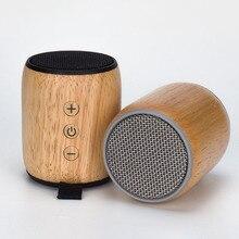 2018 de Carvalho Novo Bluetooth Speaker 3 w TF Cartão Pequeno Subwoofer De Áudio de Alta Potência Orador Madeira 450 mah Capacidade Da Bateria