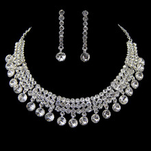 Promotion New fashion nigerian african beads wedding bridal jewelry sets  rhinestone Tl2003 crystal color Factory Wholesale