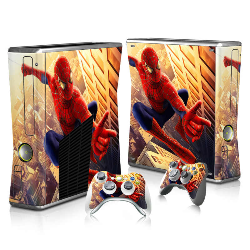 Good quality stickers Vinyl Skin Sticker Protector for Xbox 360 Slim and 2 controller skins Stickers