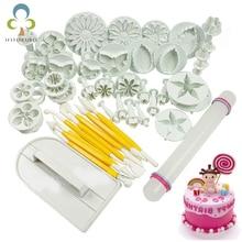 Помадка торт плесень набор цветок украшения торта инструменты кухня выпечки молдинг комплект Sugarcraft изготовление плесень для печенья GYH