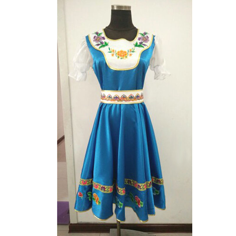 Купить с кэшбэком Custom Made Russian Folk Dance Costumes Dress For Adult Kids,Traditional Russia Performance Wear Stage Wear Long Dresses
