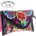 2015 new women wallet embroidered wallet Day Clutch chinese style handbag card holder bags Purse clutch mobile phone coin bag