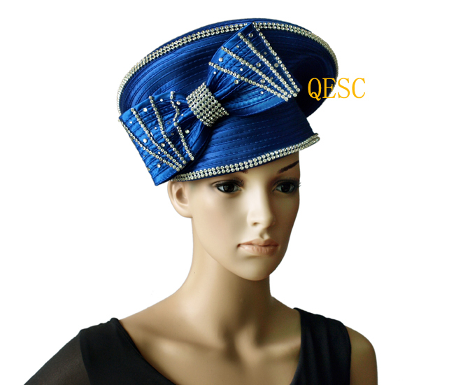 Us 478 New Royal Blue All Year Around Church Dress Formal Hat With Rhinestones Band For Kentucky Derbyfree Shipping In Womens Fedoras From