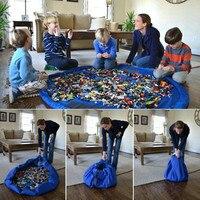 Portátil Tamanho Grande Diâmetro 150 cm Crianças Brinquedo Brinquedos Pacote Fácil Rápida Sacos de Praia Jogo Esteira Do Jogo Brinquedos Bloco de armazenamento Organizador Bin Box