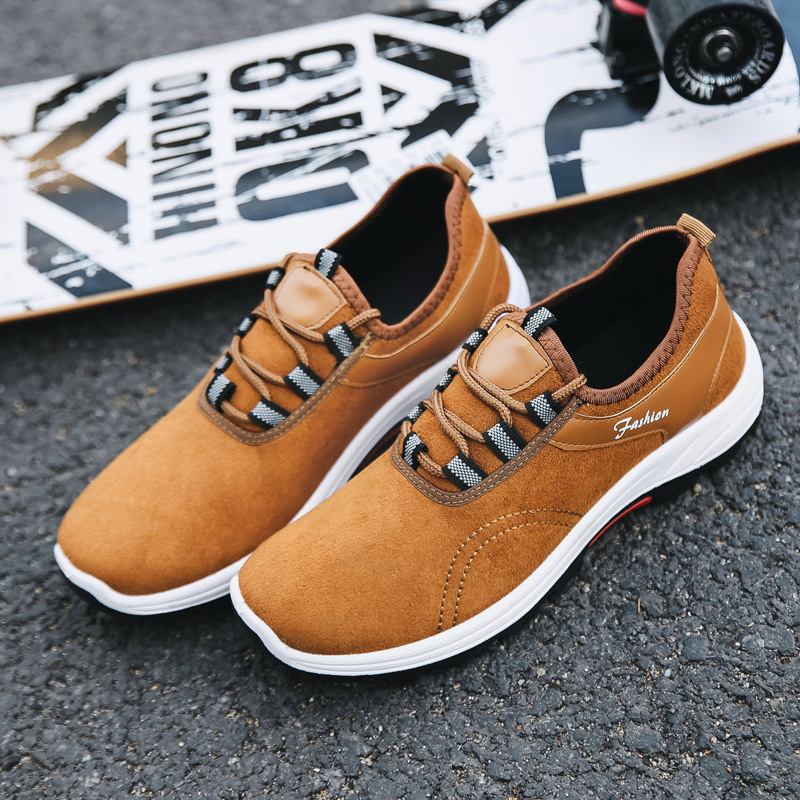 YeddaMavis Sneakers Men Shoes 2019 Spring Running Yellow Lace Up Casual Hiking Zapatos De Hombre