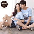 Пижамы Для Женщин Любит пижамы Мужчин Пижамы Шорты Хлопок 100% Пары Пижамы женские Гостиная Пижамы Наборы Pijama Feminino