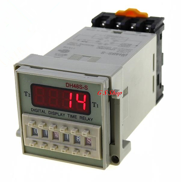 DH48S-2Z -S 12V 24V 110V 220V AC Digital Timer Relay On Delay 8 Pins SPDT 0.1S-99H Groups Contacts Delay upgrades yh48s s dh48s s dc12v dc24v ac110v ac220v multifunction digital timer relay on delay 8 pins spdt repeat cycle brand new