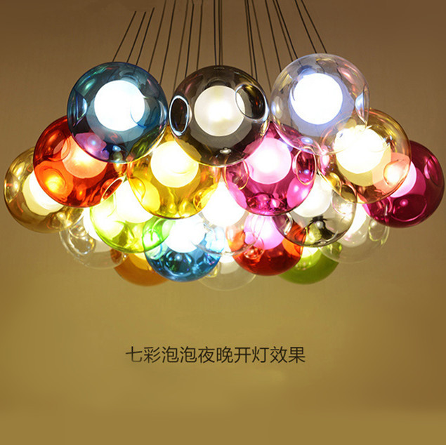 aliexpress.com : buy diy colorful crystal glass pendant light ... - Led Design Wohnzimmer