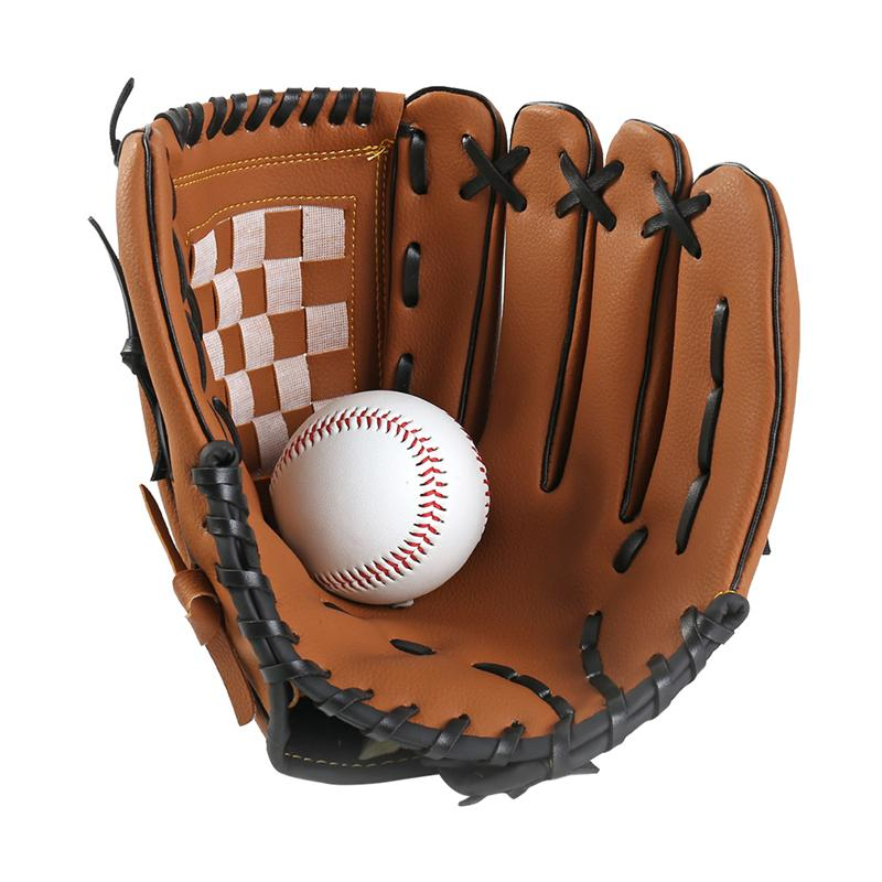 10.5 Inch Thicken Infield Pitcher Baseball Gloves Softball Gloves Adolescents Full Adult Sports Infielders Glove(Brown)