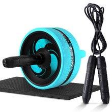 Ролик и Скакалка без шума брюшное колесо Ab ролик с ковриком для упражнений оборудование для фитнеса Бодибилдинг