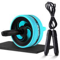Roller & Corda di Salto No Noise Addominale Wheel Ab Roller con Zerbino Per Esercizio Attrezzature Per Il Fitness Accessori Body Building