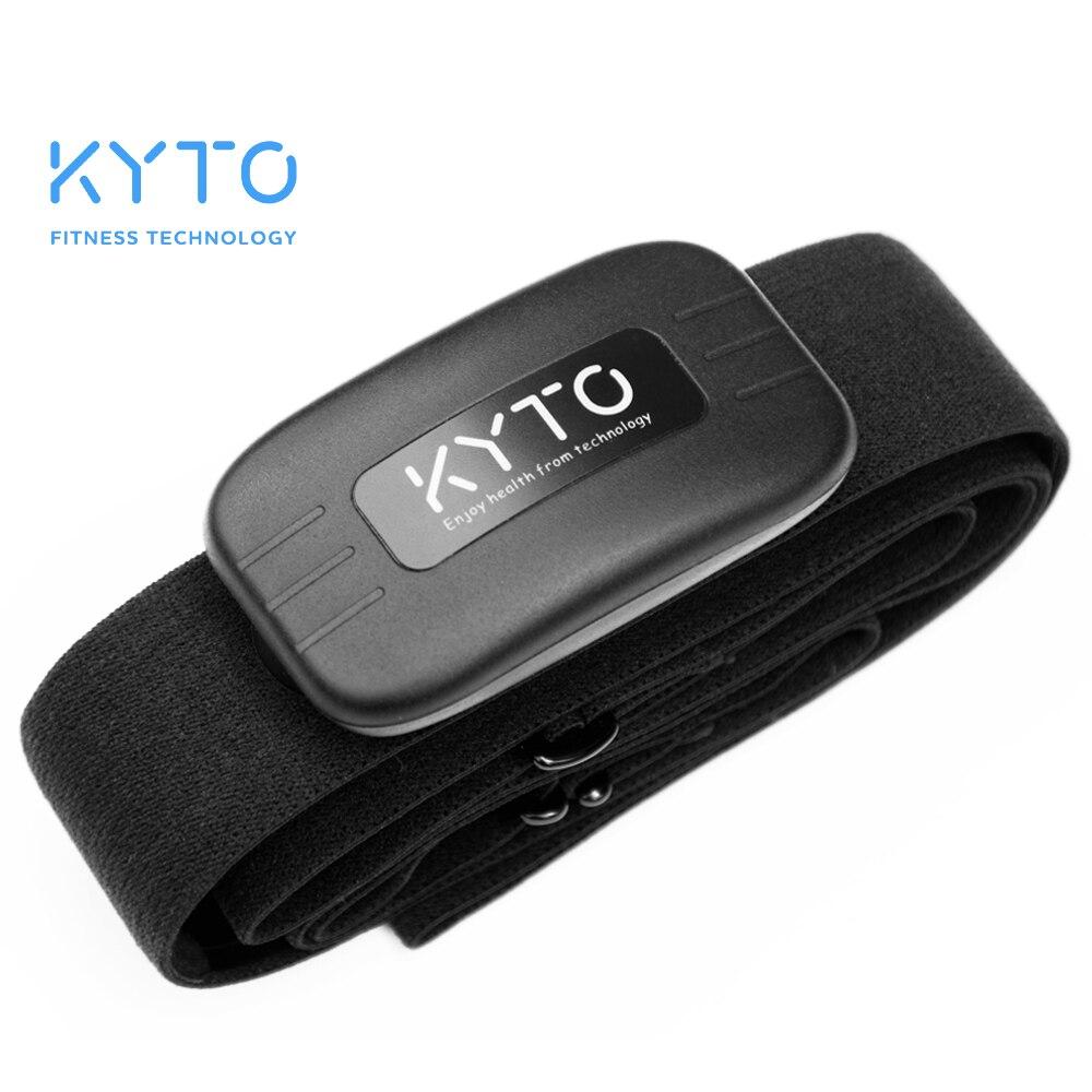 KYTO Monitor de ritmo cardíaco correa de pecho Bluetooth 4,0 cinturón Fitness de Sensor inteligente impermeable equipos para gimnasio deportes al aire libre