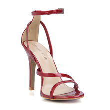 Sexy Patent Party Open Toe Stiletto Ankle Strap Women Sandal Chaussure Sandales Femmes Talon Haut Aiguille Fete Soiree YJ5186-9a шапка fete fete fe009cwxrb85