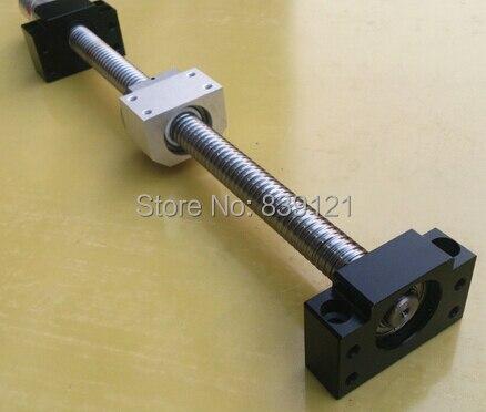 Vis à billes SF2505 longueur pour 1000mm prendre écrou support peut faire fin machine avec votre dessin prendre BKBF17 support un ensemble