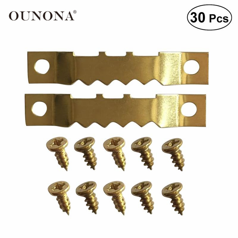 OUNONA 10pcs Hooks And 20pcs Screws Picture Hangers Frame Hanging Kit Double Hole With Screws For Wall Mounting Home Decoration
