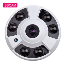 High Resolution 5.0 Megapixel AHD Security CCTV Camera Indoor Wide Angle Fish Eye Infrared Video Surveillance Dome Camera 20M IR