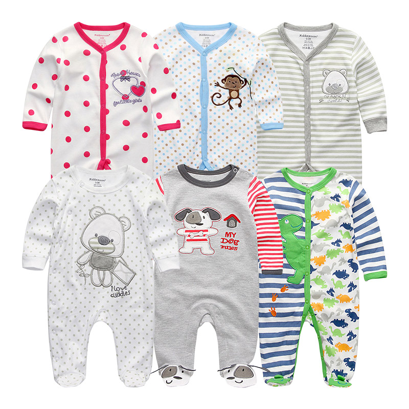 Baby Clothes Girl Boys Rompers 6Pcs sets Clothing 2019 ropa bebe Jumpsuits Costume Unisex roupas de