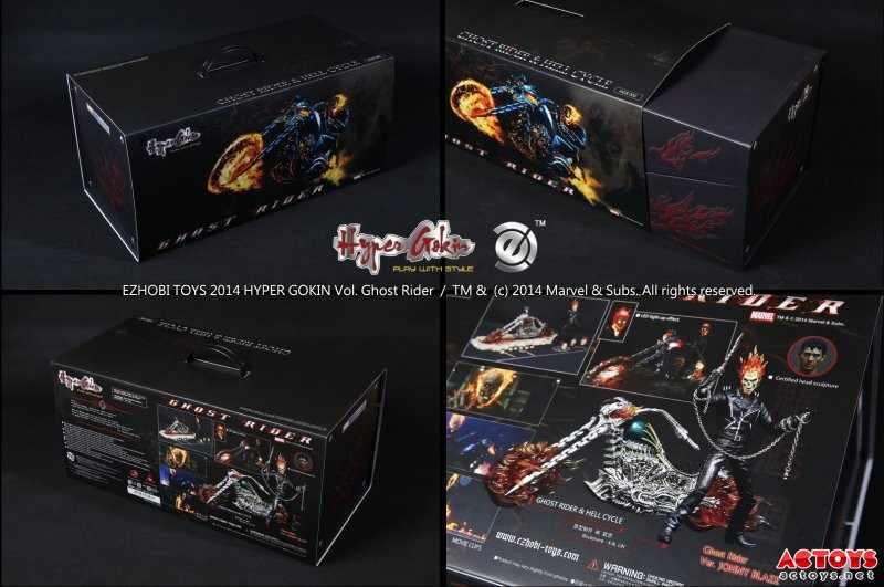 Estartek EZHOBI BRINQUEDOS PVC 1/9 Ghost Rider + Motocicleta Definir Figura de Ação Coleção Para Os Fãs Do Presente Do Feriado
