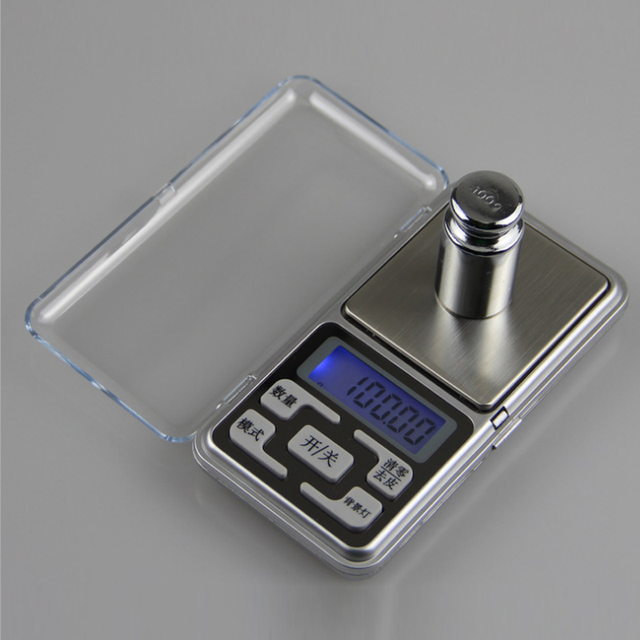 Electronic LCD Display Scale Mini Pocket Digital For Jewelry 100/200/300/500g X0.01g High Accuracy Weigh Balance