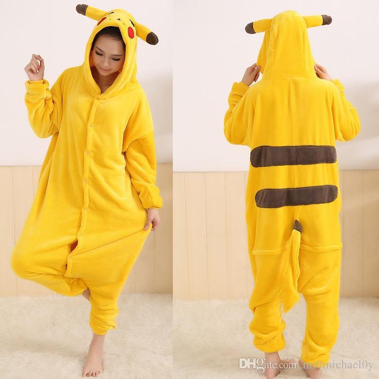 9c4fb50b1adf PIKACHU Onesies For Adult Cute Animal Pajamas Onesies Men Women One Piece  Animal Onesie Jumpsuit Pajama