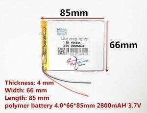 Image 2 - En iyi pil marka Ücretsiz kargo yeni Bir ürün 3.7 V lityum polimer pil 2800 mah 406685 ma tablet bataryası
