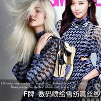 Trends Fashion Catwalk Print Silk Chiffon Fabric Summer Elegant Dress Silk Fabric Natural Silk Fabric Wholesale
