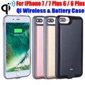 20X Battery Case For iPhone 7 Plus 6 Plus 3000mAh 5000mAh Power Bank Qi Wireless Transmitter Charger External Backup IP725