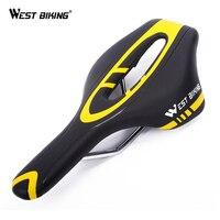 West biking bicicleta silla elástica pu impermeable Ciclismo asiento confort descompresión ventilación diseño MTB Road Sillines
