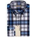 Los hombres camisa a cuadros boutique clothing button-down cuello de manga larga camisa de algodón 2016 de la venta caliente camisas talla m ~ 2xl