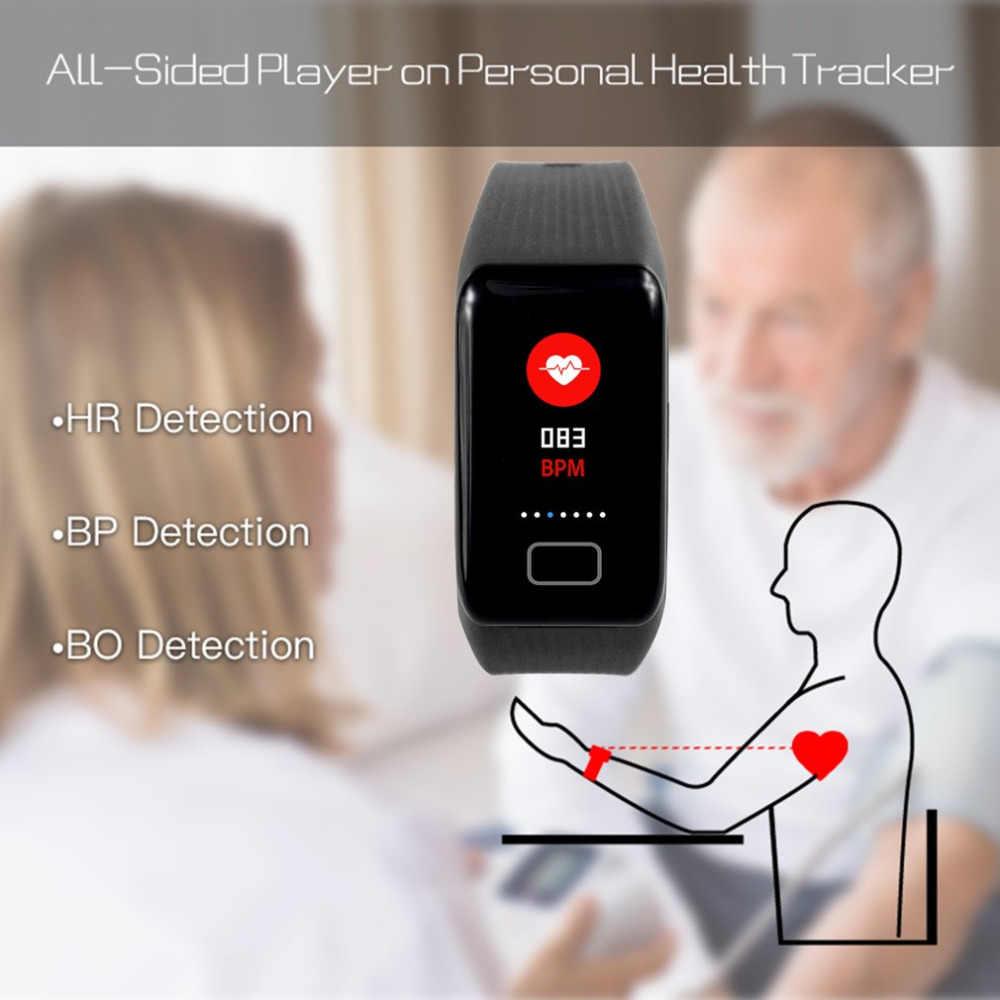X1plus 0,96 дюймов TFT цветной дисплей умные наручные часы водонепроницаемые высокой четкости пульсометр Монитор артериального давления