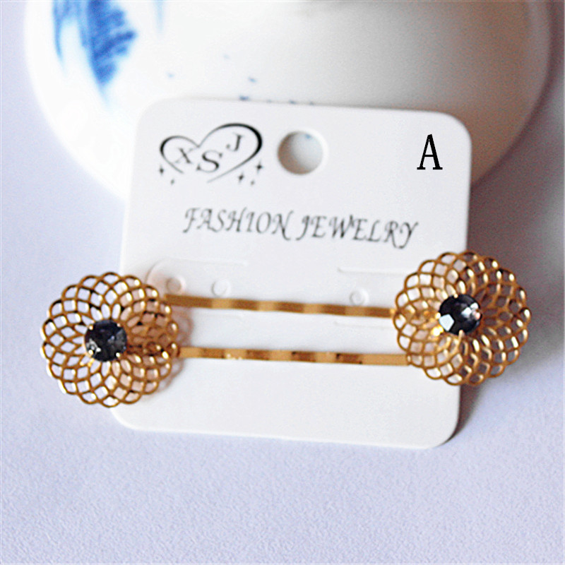 New fashion women's headdress girls birthday party gorgeous and beautiful gold barrette gift free shipping