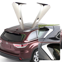 beler New 2pcs Chrome Mirror Rear Window Trim Cover Car Accessories Decorative Covers for Toyota Highlander Kluger 2014 2015