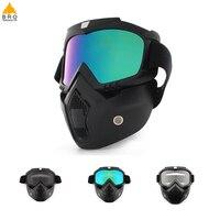 Пыли Велоспорт Полный маска Для мужчин Для женщин лыжные очки ветрозащитные зимние тактические сноуборд с защитой от УФ очки для велосипед...