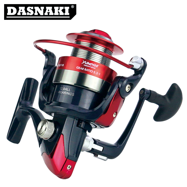 Metal Spinning Fishing Reel 12BB 5.5:1 Fishing tackle Pesca Carrete Spinnning Reel Feeder Carp Fishing Wheel AM 2000-7000