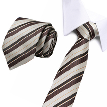 8cm Necktie Mens Fashion Accessories Casual Slim Plain  brown striped Skinny tie for men Party Wedding Cravat Gravata Paisley
