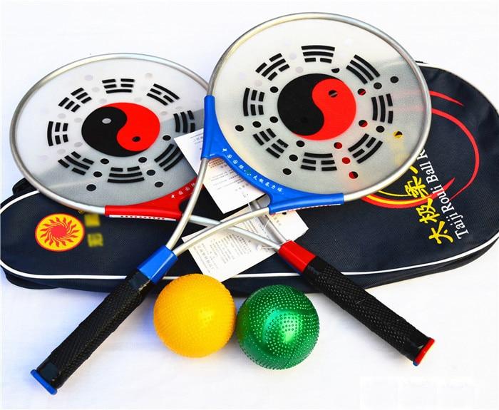 1 Raquette, 2 Balles, 1 Sac de Haute Qualité Chinois Kongfu Chinois Wushu Arts Martiaux Taiji Rouli Ball Sport, Tai Chi raquette Ensemble dans Arts martiaux de Sports et loisirs