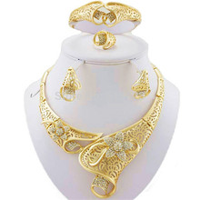 hot deal buy free shipping  african  jewelry sets high quality jewery set wedding party jewelry set 18k gold fine jewelry women necklace