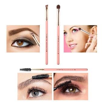 New 2019 Women's Fashion 3PCS Pink Eyemakeup Set Brush Beginner Portable Artificial Fiber Beauty  Maquiagem Drop Shipping Eye Shadow Applicator