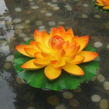 1pcs18cm simulation multicolor lotus flower used for garden decoration and props